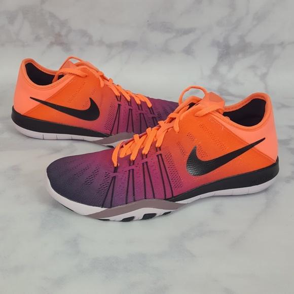 81d5f1a6fc1 NIKE Free TR 6 Spectrum Bright Mango Training Shoe
